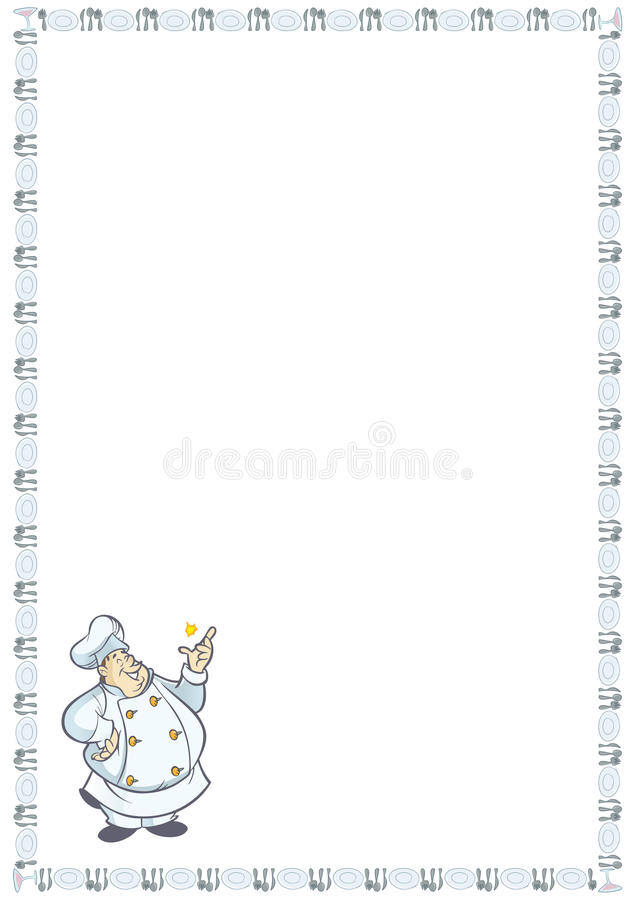 Download Recipe card stock vector. Illustration of waiter, funny - 10575098