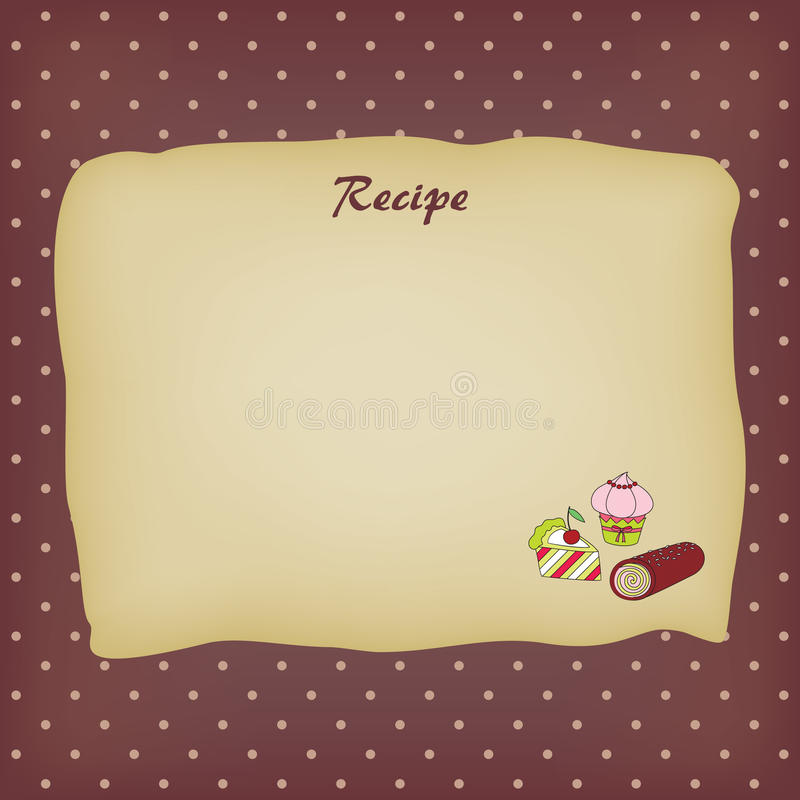 Download Recipe card stock vector. Image of cooking, image, kitchen - 20518818