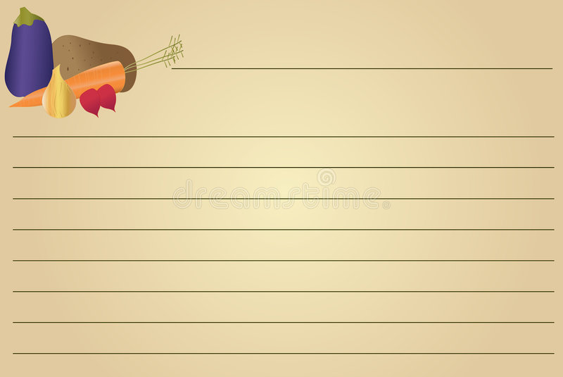 Download Recipe Card - Vegetables stock illustration. Illustration of radish - 7590594