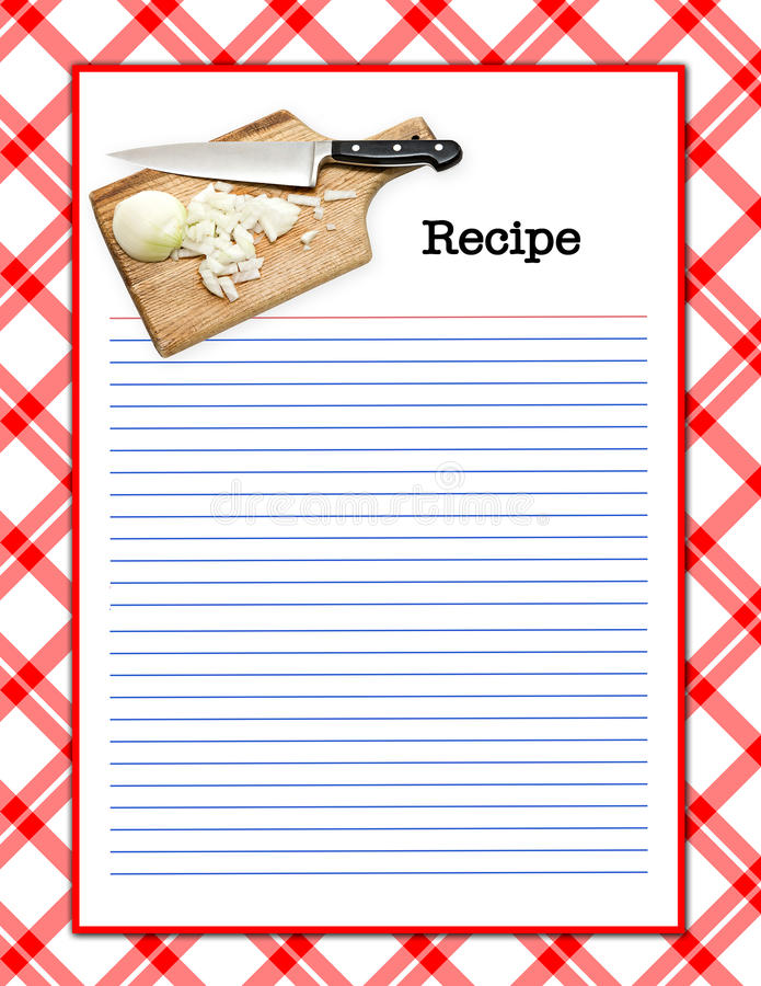 Download Recipe Layout stock illustration. Image of illustration - 9837970
