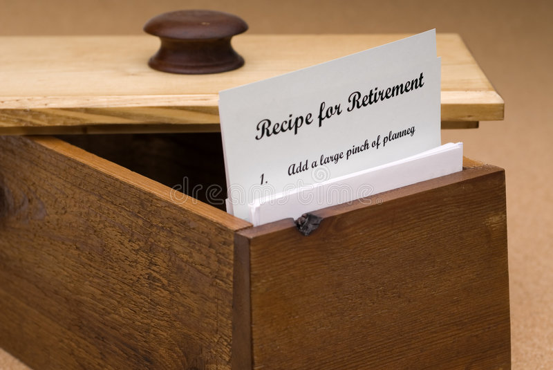 Download Recipe for retirement stock image. Image of wood, brown - 4270225