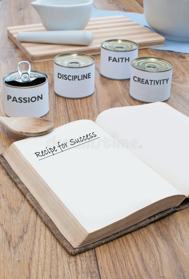 Download Recipe for success stock image. Image of creativity, motivation - 23226109