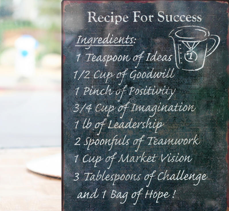 Recipe For Success royalty free stock images