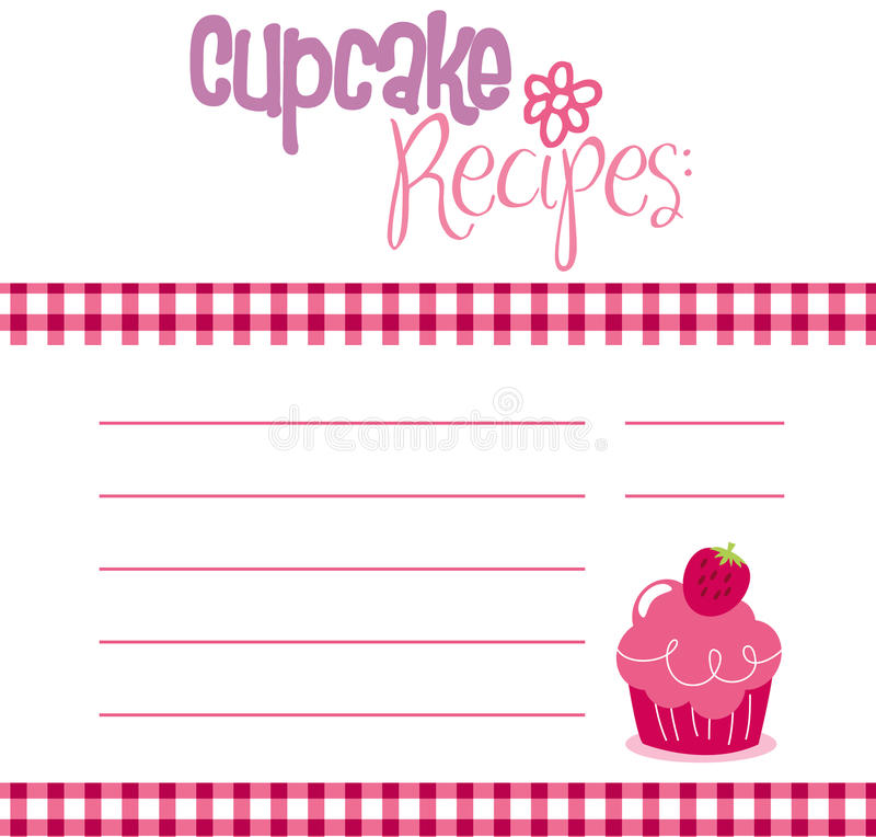 Download Recipe Template stock vector. Image of birthday, cover - 14753494