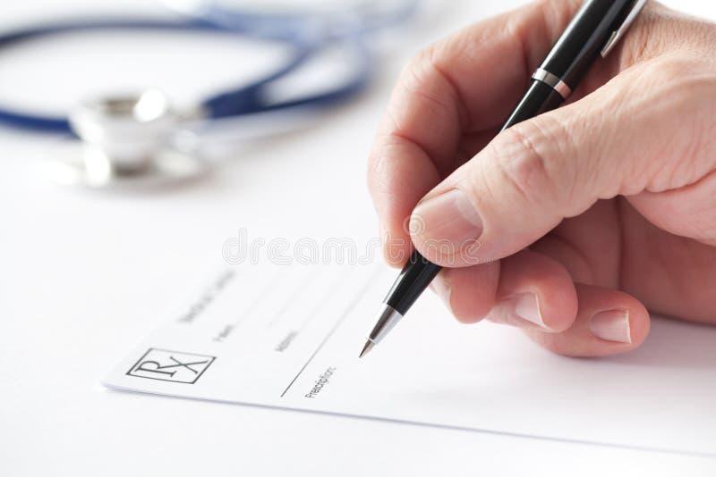 Prescription Writing royalty free stock photos