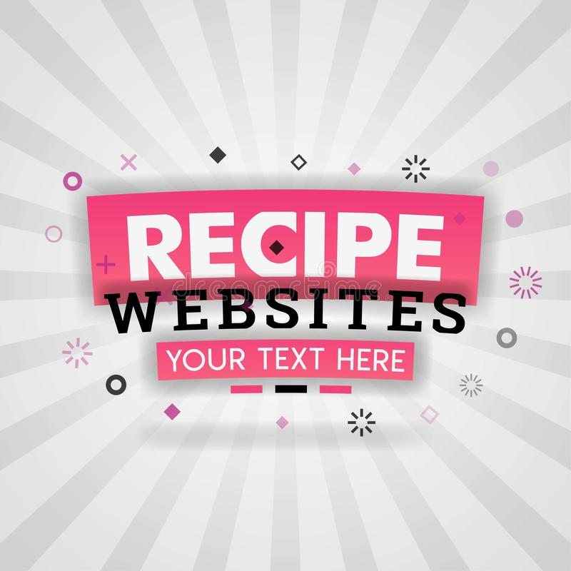 Recipes websites with simple healthy food for magazine covers. Can be use for landing page, web ui, banner, poster, template, flyer. can also be for various stock illustration