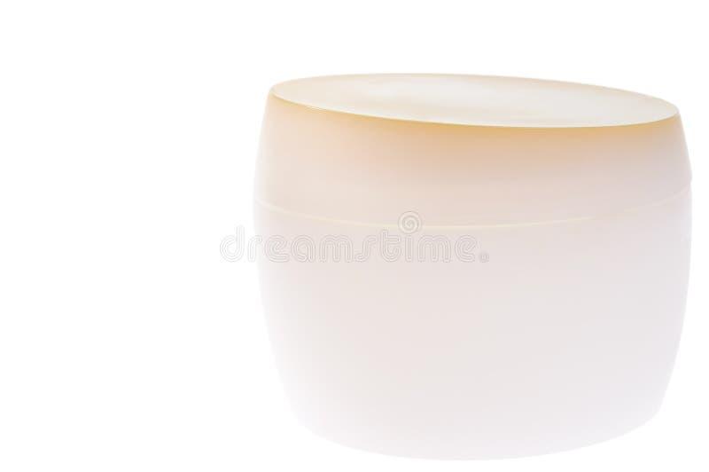 Download Recipiente Bege Para O Creme Imagem de Stock - Imagem de cuidado, branco: 12812545