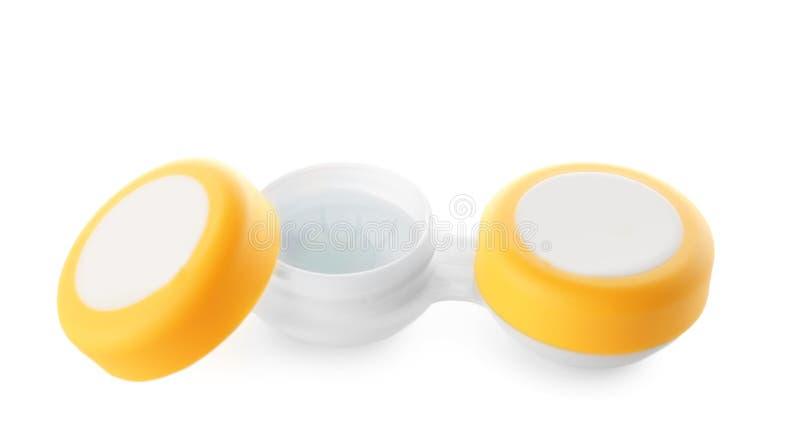 Recipiente com lentes de contato foto de stock