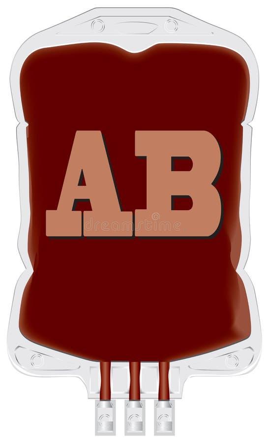 Recipiente com sangue fornecedor AB ilustração royalty free