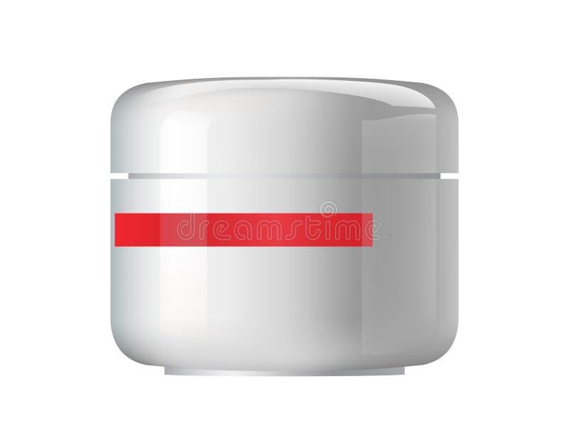 Recipiente cosmético lustroso. ilustração stock