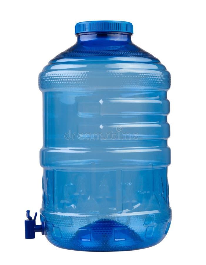 Recipiente da água azul fotografia de stock