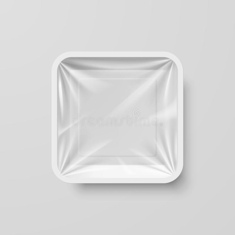 Recipiente de alimento plástico ilustração royalty free