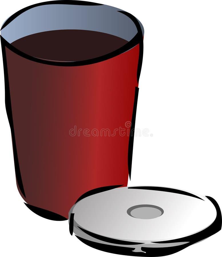 Recipiente de bebida ilustração royalty free