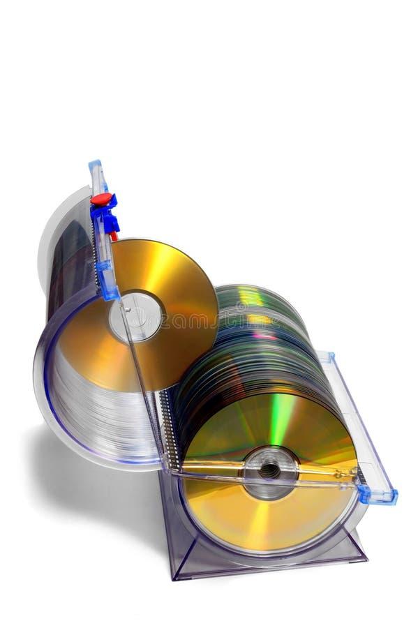 Recipiente de CD-DVD foto de stock