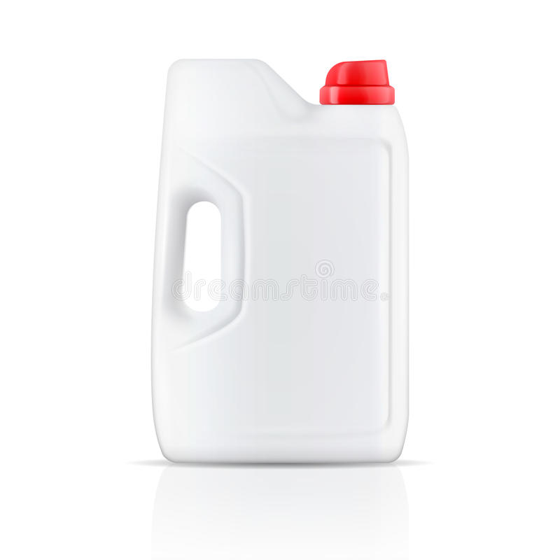 Recipiente de pó branco do detergente para a roupa. ilustração do vetor