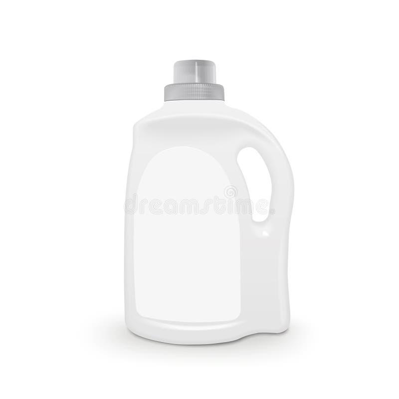 Recipiente detergente plástico ilustração royalty free