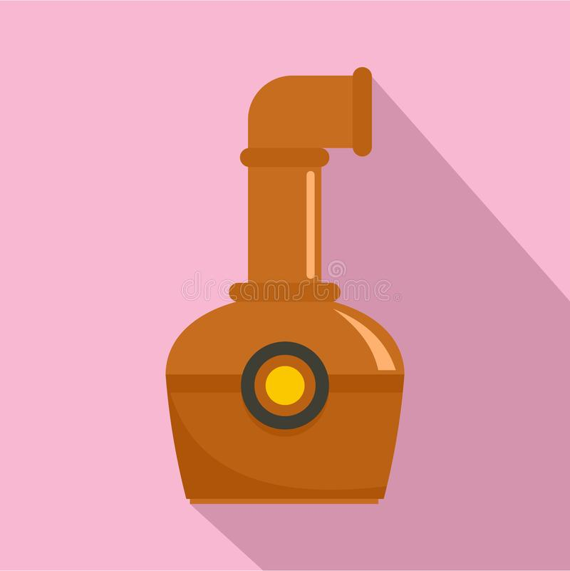 Recipiente do ícone do conhaque, estilo liso ilustração stock