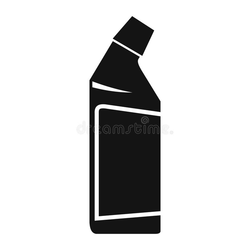 Recipiente do ícone do líquido de limpeza do dreno ilustração do vetor
