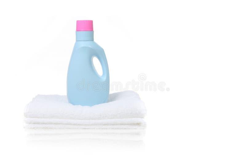 Recipiente do detergente do emoliente da tela fotos de stock royalty free