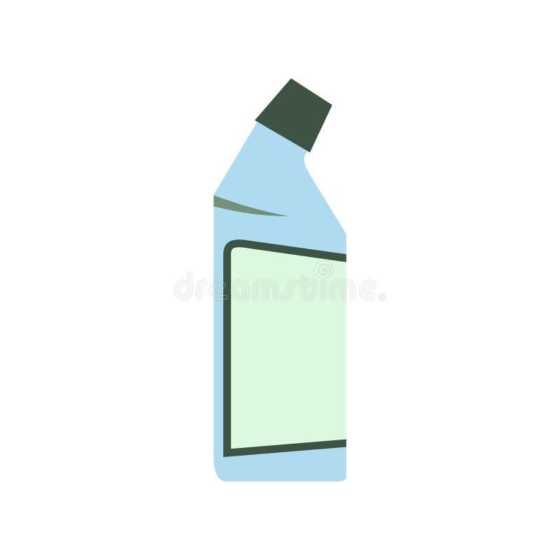 Recipiente do líquido de limpeza do dreno liso ilustração do vetor