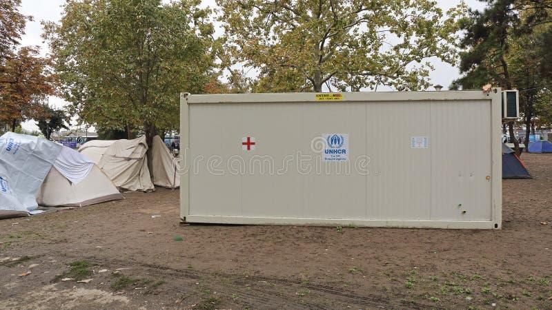 Recipiente do UNHCR foto de stock