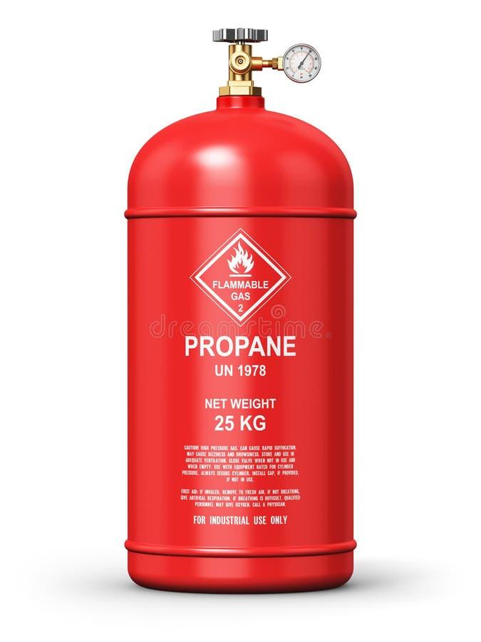 Recipiente industrial liquefeito do gás do propano ilustração royalty free