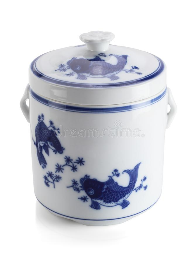 Recipiente oriental da porcelana fotos de stock royalty free