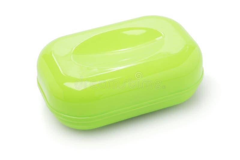 Recipiente plástico do sabão foto de stock royalty free