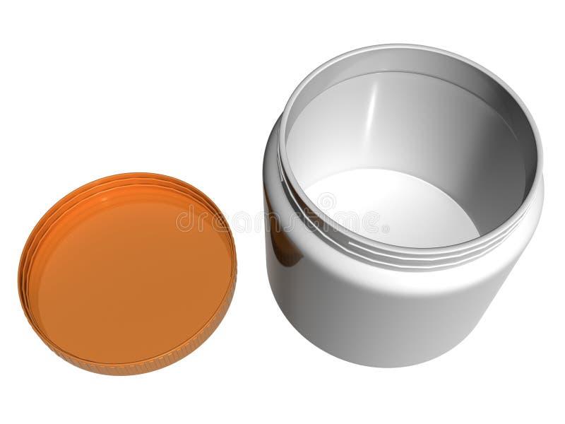 Recipiente plástico redondo, View_Raster superior ilustração do vetor