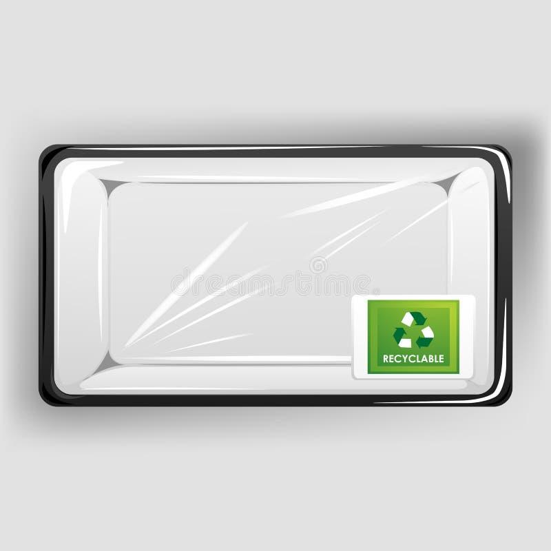 Recipiente Recyclable ilustração stock