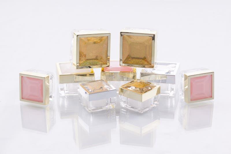 Recipientes cosméticos fotos de stock
