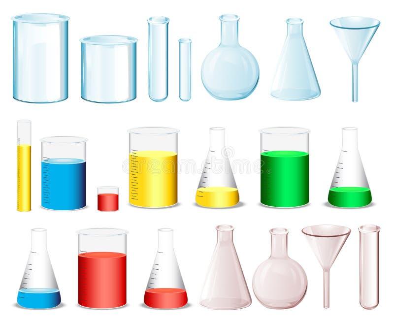 Recipientes da ciência ilustração stock