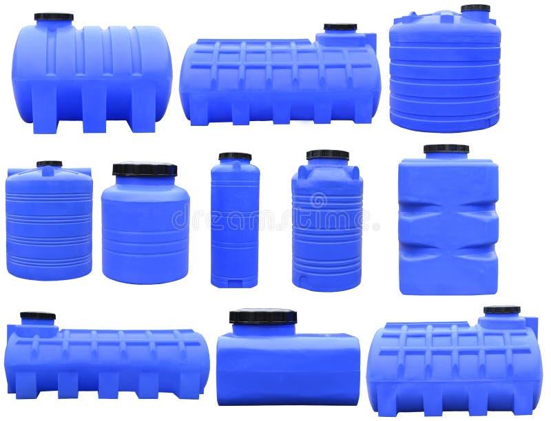 Recipientes de armazenamento industriais para líquidos fotos de stock
