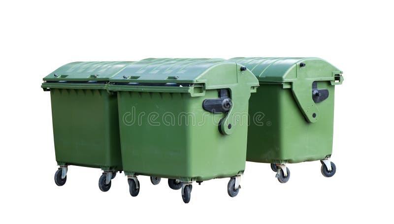 Recipientes do lixo foto de stock royalty free