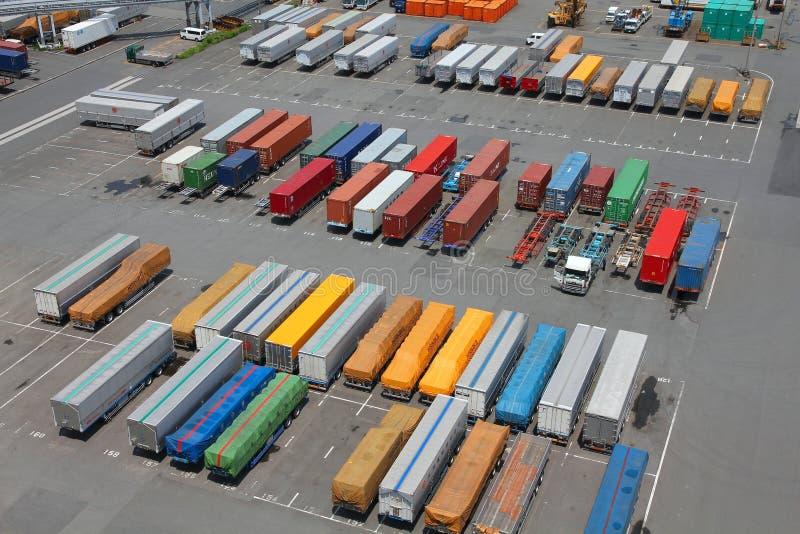 Recipientes do porto imagem de stock