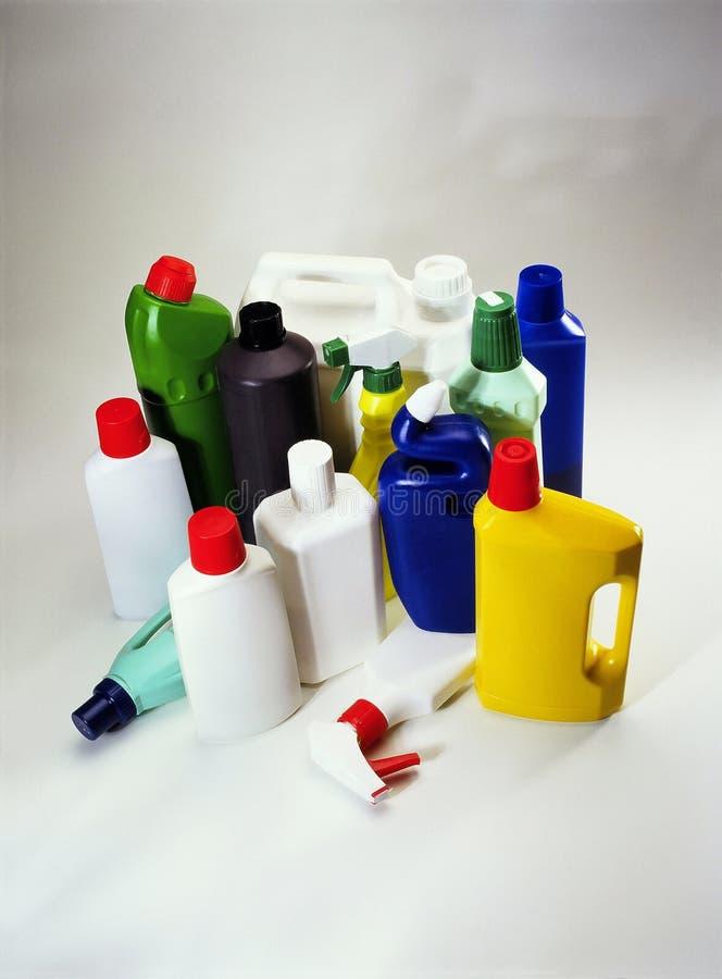 Recipientes domésticos plásticos imagens de stock