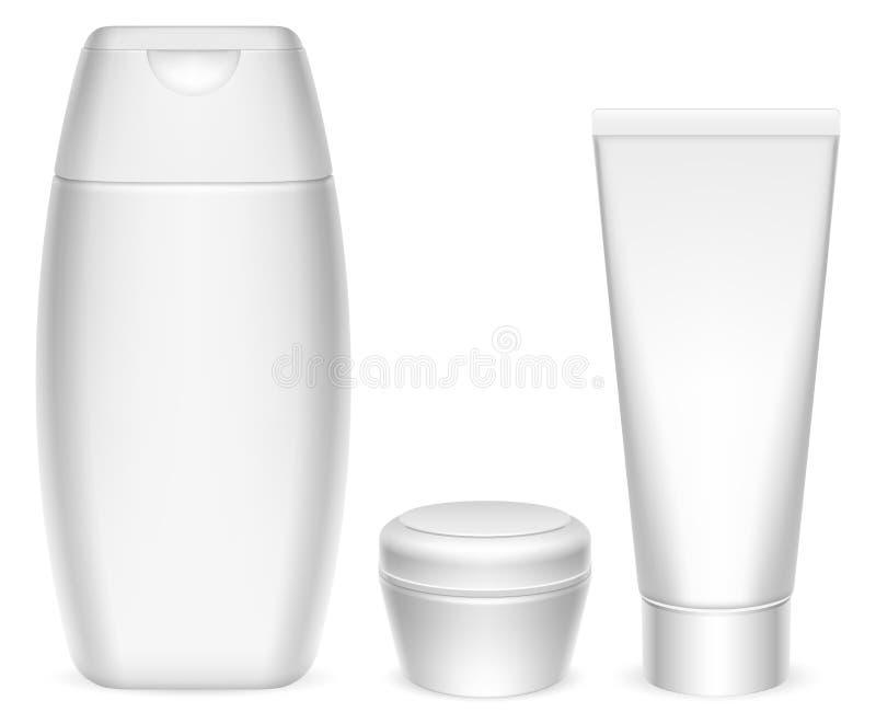 Recipientes dos cosméticos. ilustração do vetor