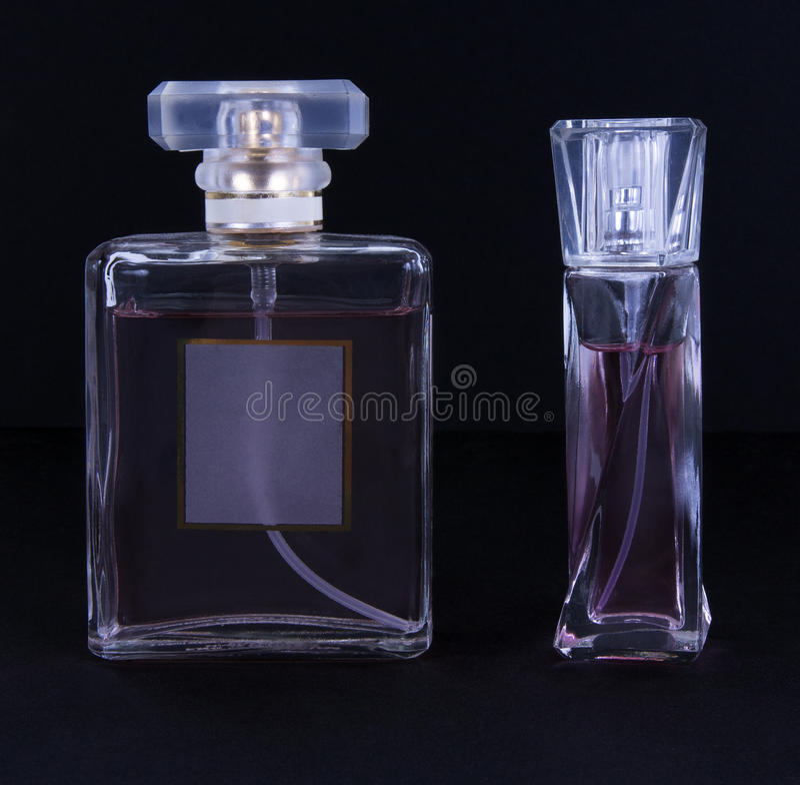 Recipientes perfumados da essência foto de stock