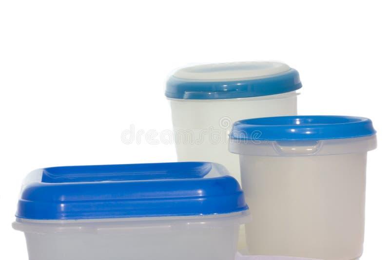 Recipientes plásticos foto de stock