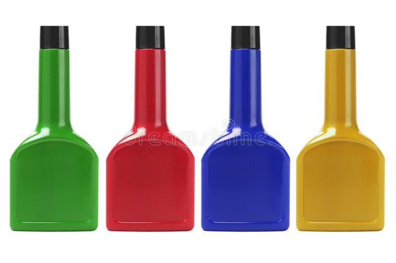 Recipientes plásticos coloridos imagens de stock royalty free