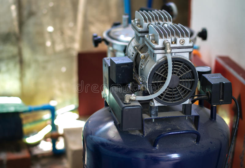 RECIPROCATING COMPRESSOR OR PISTON COMPRESSOR royalty free stock photo