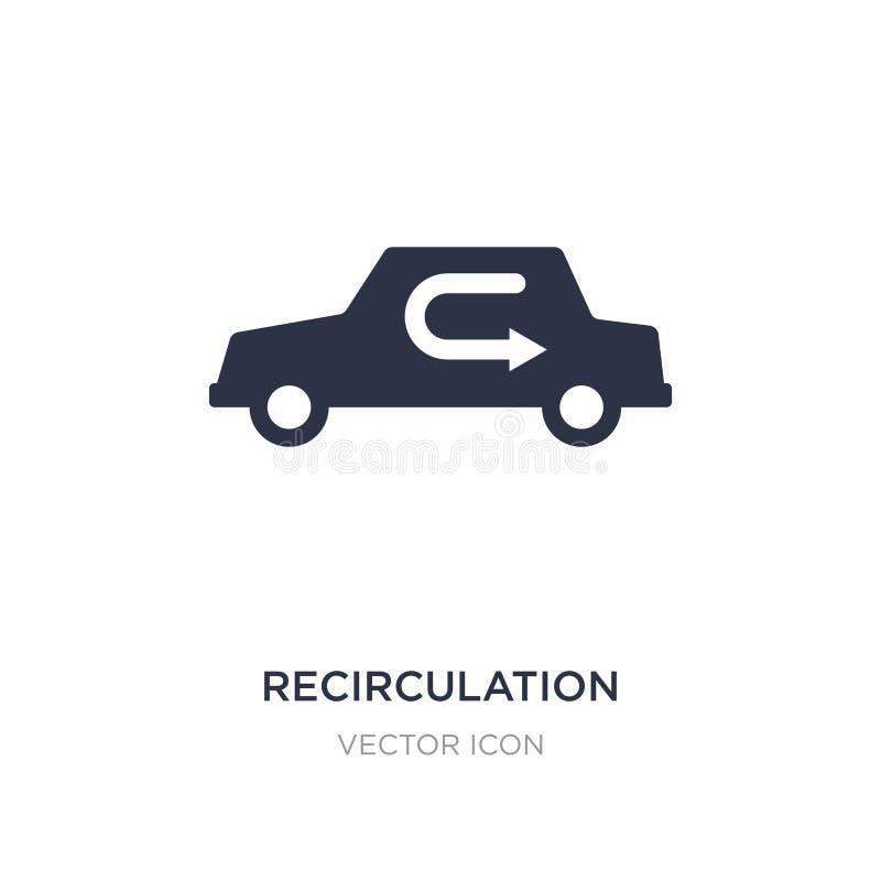 recirculation ikona na białym tle Prosta element ilustracja od Przewiezionego pojęcia ilustracji