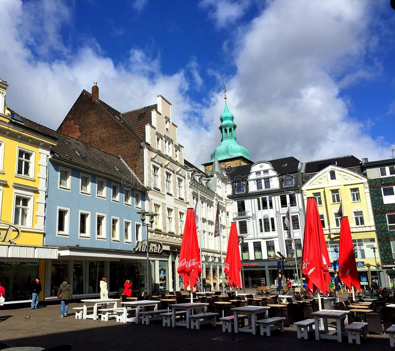 Recklinghausen market square (Germany). The main market square in the historic district of Recklinghausen, Germany royalty free stock photography