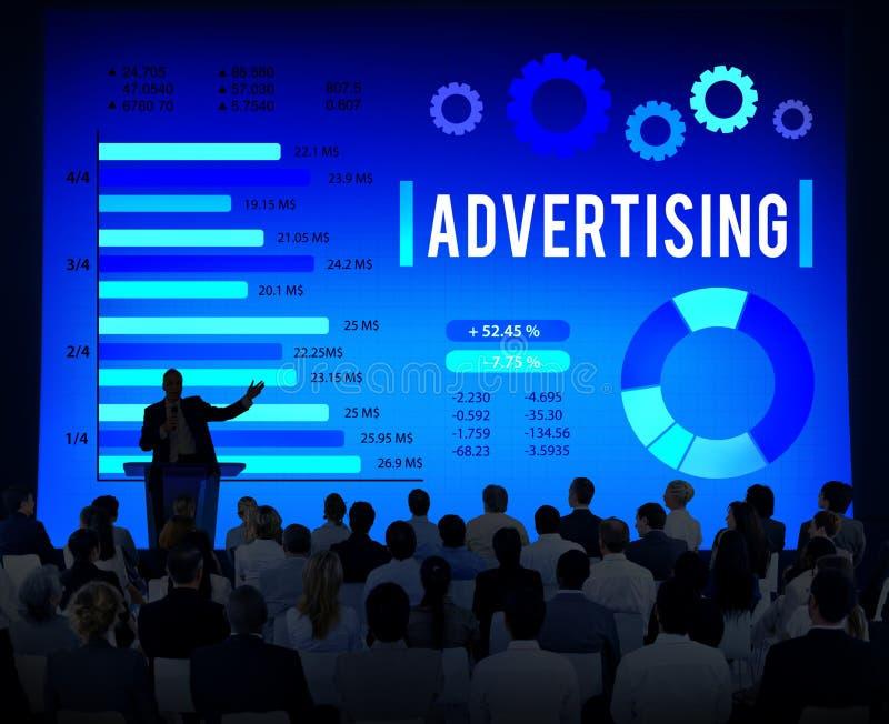 Reclame Digitaal Marketing Commercieel Bevorderingsconcept royalty-vrije stock foto