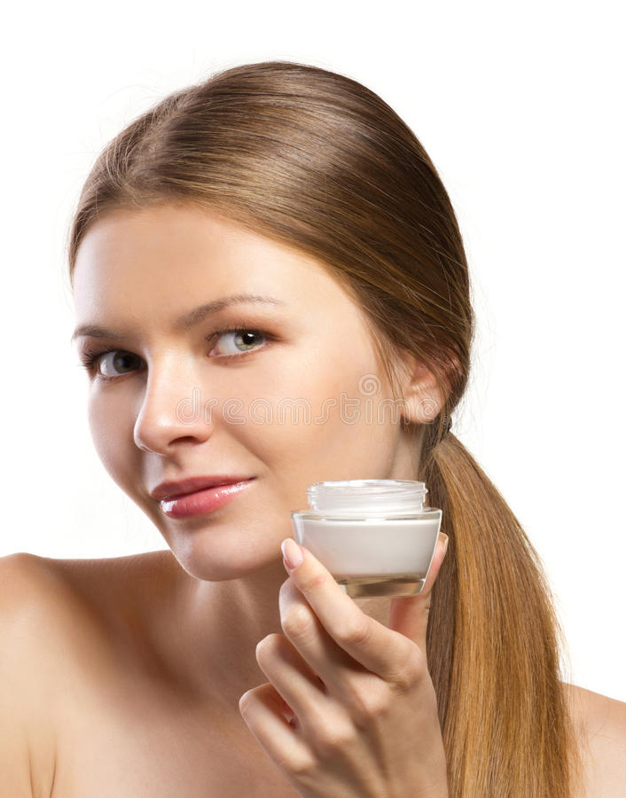 Reclame van kosmetische room stock afbeeldingen