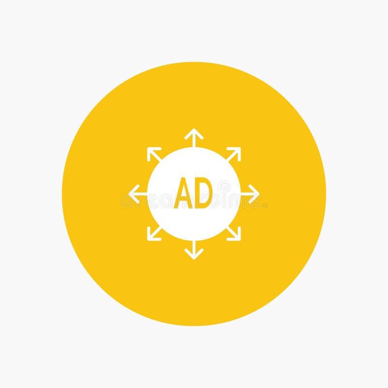 Reclame, Voorlegging, Reclamevoorlegging, Advertentie royalty-vrije illustratie