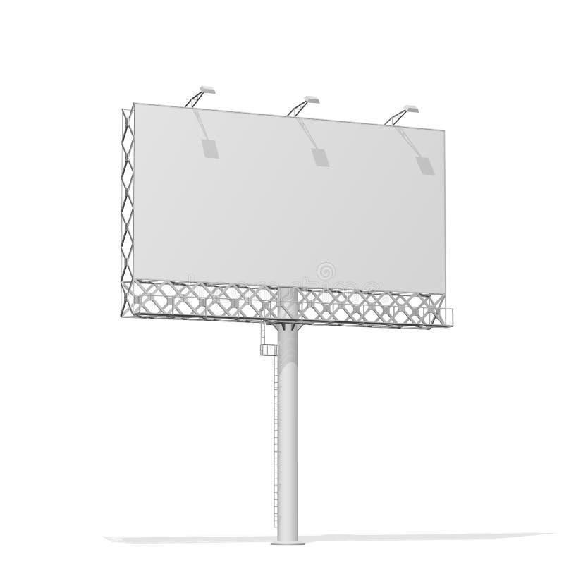 Reclamebouw voor openlucht reclame groot aanplakbord Aanplakbord voor uw ontwerp Bundelstructuur stock illustratie