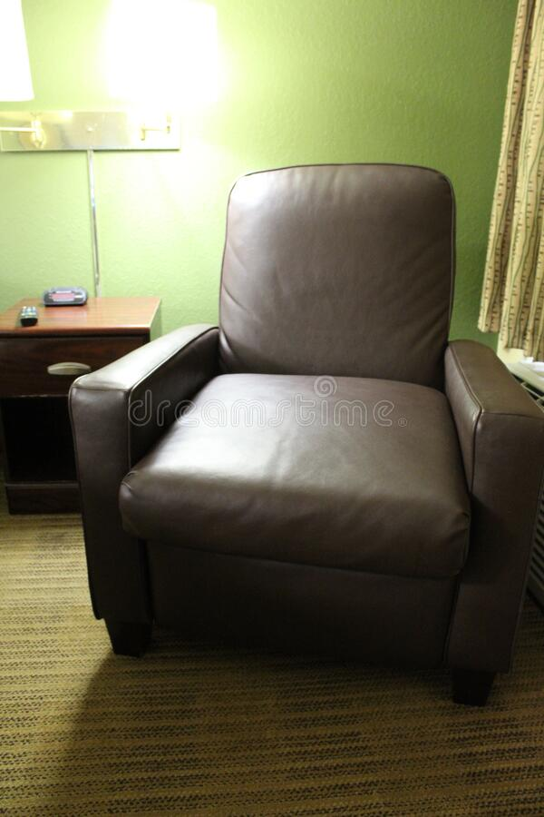 Recliner in the Hotel in Gainesville, Floryda, Stany Zjednoczone zdjęcie royalty free