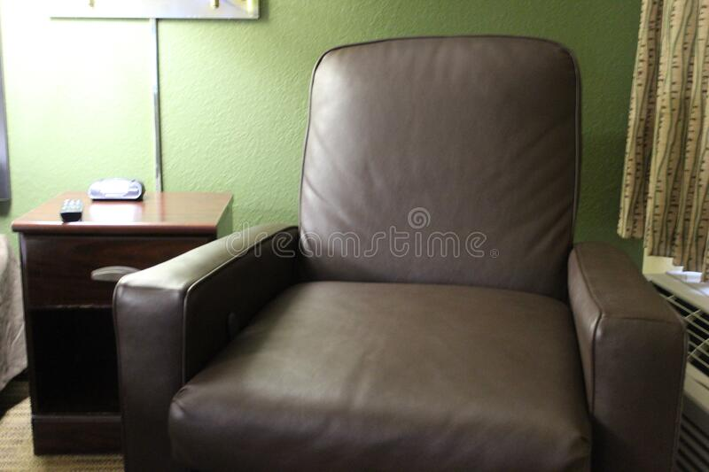 Recliner in the Hotel in Gainesville, Floryda, Stany Zjednoczone obrazy stock