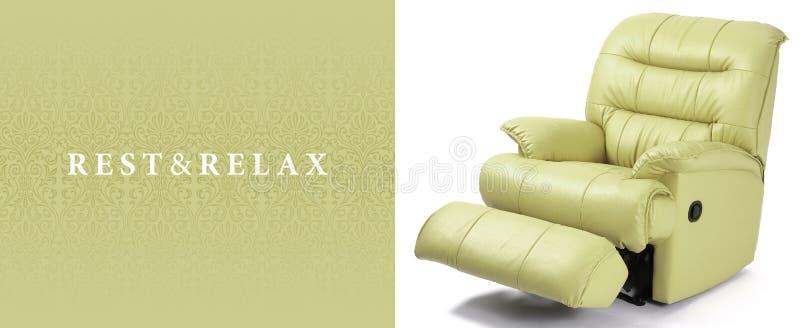 Recliner leather sofa stock photo